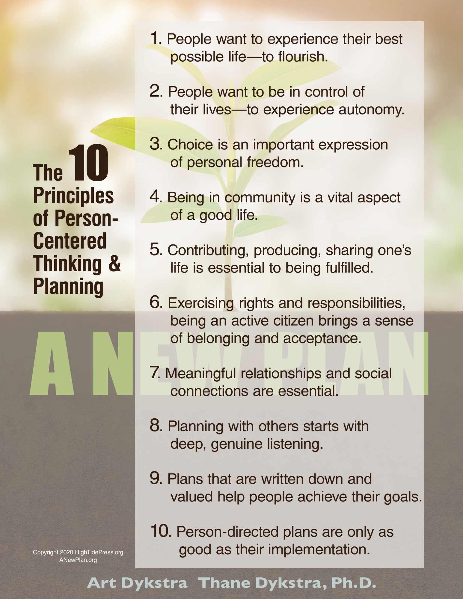 A New Plan 10 Principles